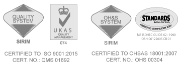 Certified to OHSAS 18001:2007 / ISO 9001:2008